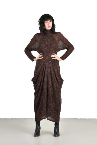 Chaelene Cocoa Metallic 3pc Knit Ensemble