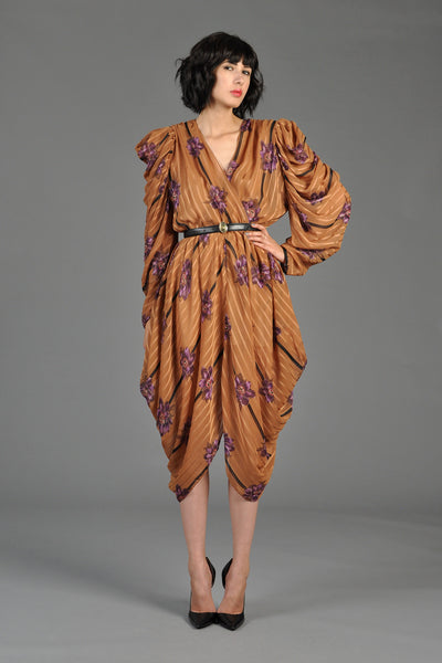 Avant Garde Floral Striped Harem Dress