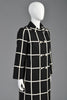Castillo Vintage 1960s Black + White Plaid Coat