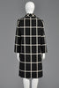 Castillo 1960s Black + White Plaid Coat