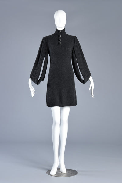 Chanel Cashmere Sweater Dress w/Open Sleeves