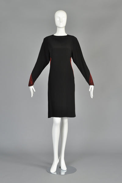 Karl Lagerfeld for Chloe 1980s Embroidered Dress