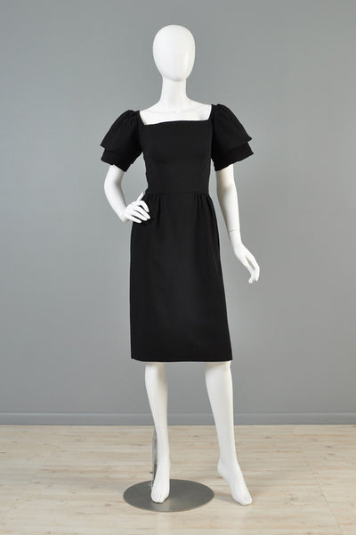 Christian Dior 1960s Tiered Sleeve Cocktail Dress