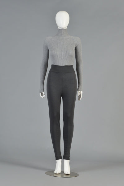Claude Montana High Waisted Knit Wool Legging Pants