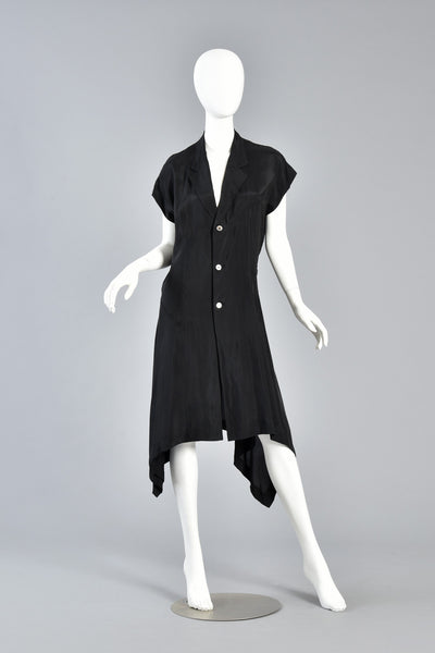Comme des Garcons Asymmetrical Minimal Black Dress