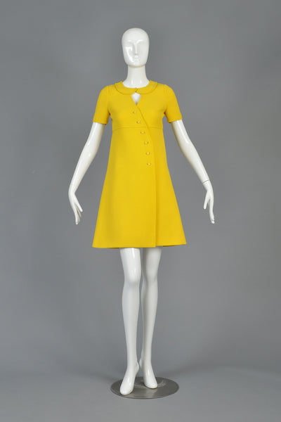 60s Courrèges Asymmetrical Couture Future Dress