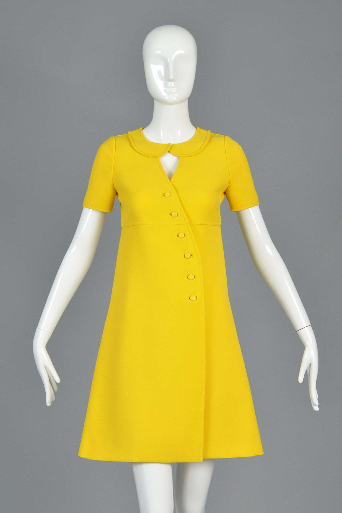 60s Courr 232 Ges Asymmetrical Couture Future Dress Bustown