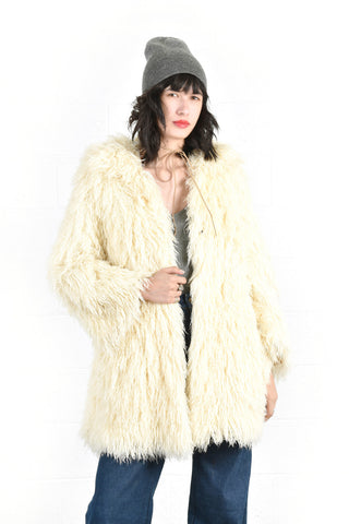 Sheila Super Shaggy String Coat