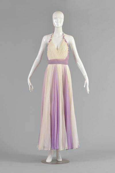 1960s Silk Chiffon Evening Gown in the manner of Helen Rose