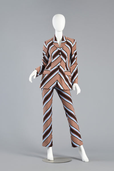 Chevron Striped Suit by Dolce & Gabbana
