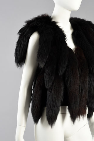 Don Kline Fox Tail Fur Fringed Gilet/Vest
