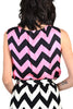 Donald Brooks 1960s Chevron Striped 3 Piece Ensemble