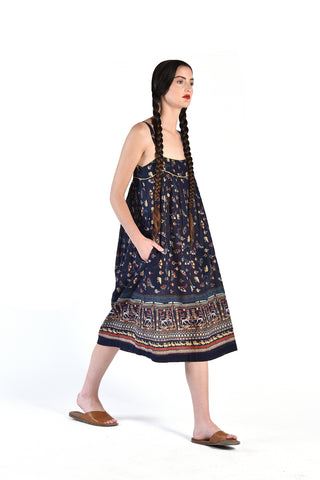 Rashida Egyptian Print 70s Tent Dress