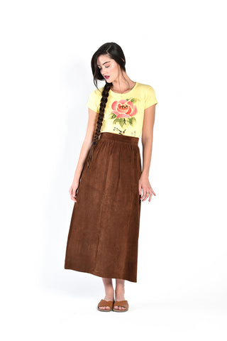 Gilka Suede Maxi Skirt