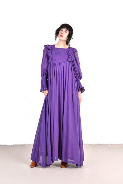 Gina Fratini 1970s Perfect Gauze Maxi Dress