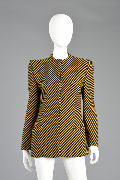 Documented Mid-80s Giorgio Armani Minimalist Striped Blazer