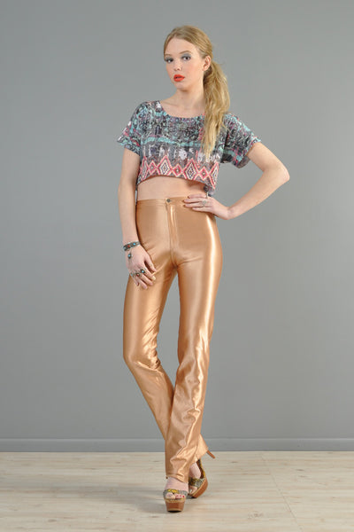 Bojeangles High Waisted 1970s Fawn Disco Pants