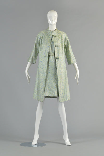 1967 Chinoiserie Silk Brocade Dress + Jacket