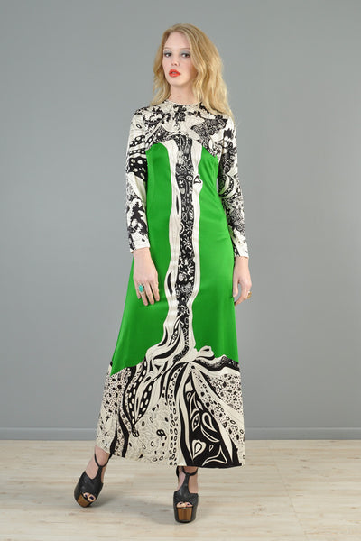 Mr Dino 1960s Aubrey Beardsley Inspired Tree Dress