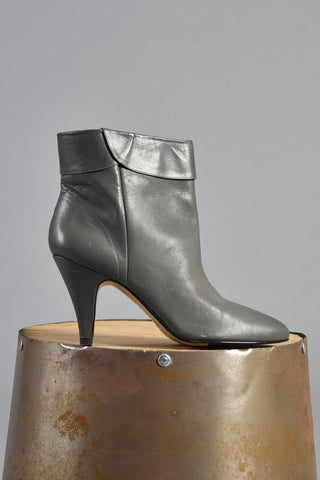 The Perfect Pair of Grey Leather Ankle Boots 8.5