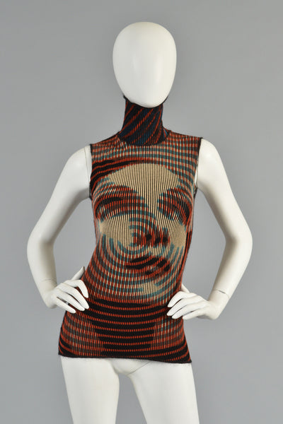 Jean Paul Gaultier Spiral Woman Sleeveless Top