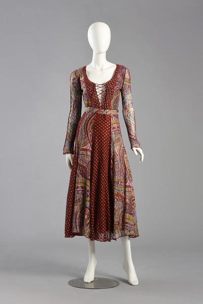 John Ashpool London 1970s Bohemian Knit Ensemble