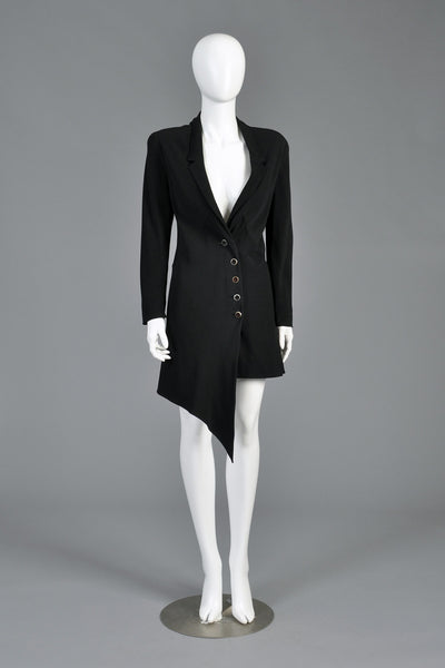 Karl Lagerfeld 1990s Asymmetrical Jacket Dress