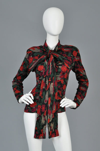 Koos van den Akker Couture Blouse with Ascot