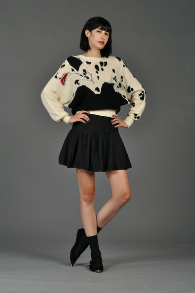 Krizia Black + White Dalmatian Sweater