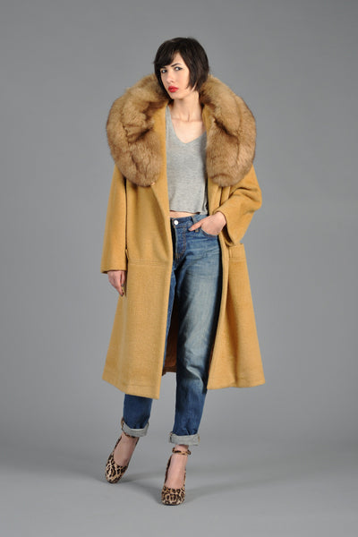 Lilli Ann 60s Massive Fox Fur Collar Coat