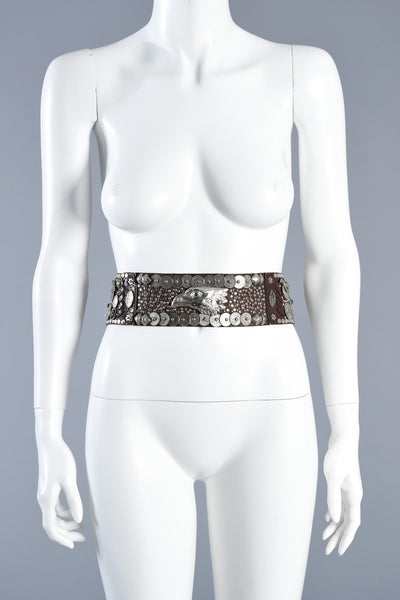 Lily Farouche Studded Belt with Eagle Bust