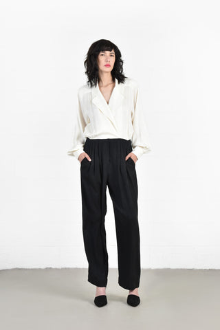 Gina Monochrome Silk Jumpsuit