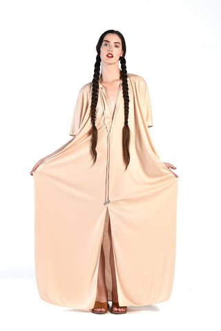 Lucie Ann Draped Blush Caftan