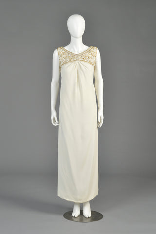 1960s Malcolm Starr Beaded Gown