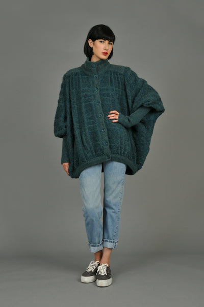 Missoni 1980s Oversized Chunky Knit Cardigan
