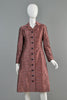 Mollie Parnis 1960s Silk Scale Coat