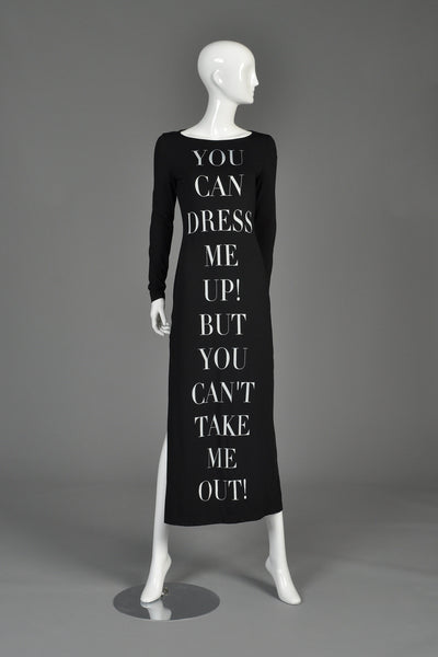 "Moschino ""Dress Me Up"" 1990s Bodycon Maxi Dress"