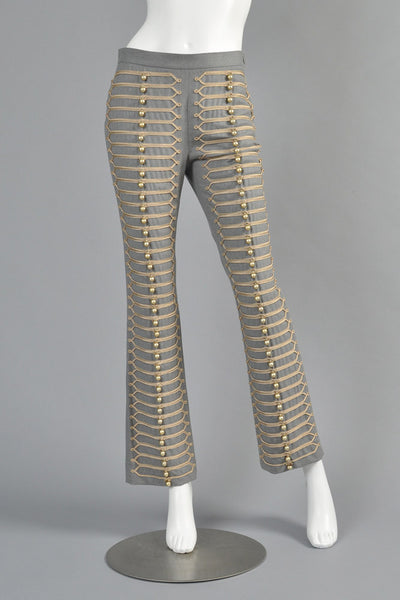 Moschino Military Band Embroidered Bell Pants