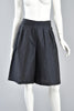 Navy Blue & White Flared Polkadot Culottes Shorts