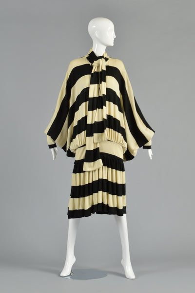 Early Norma Kamali Striped Knit Dress