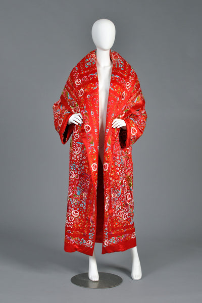 Norma Kamali OMO Embroidered Coat with Hood
