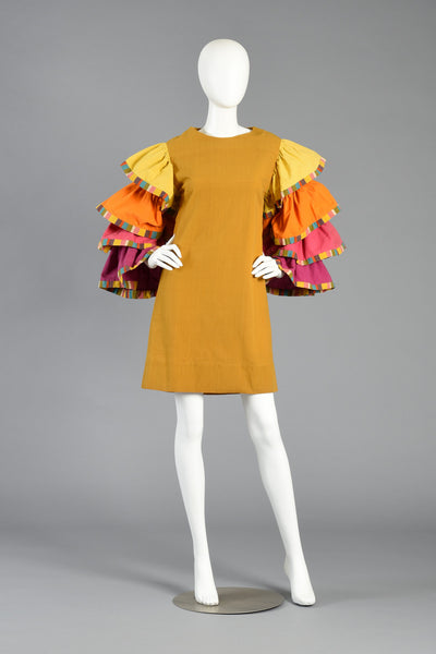 Island Resort 1960s Tiered Shift Dress