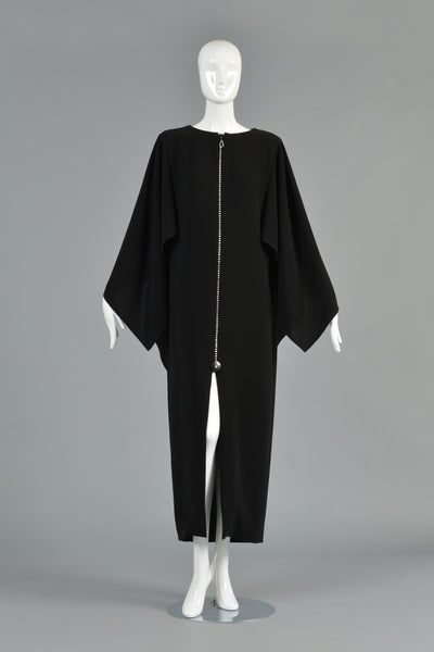 Pierre Cardin 1978 Cape Backed Evening Gown