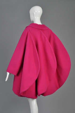 Iconic Vintage 1987 Pierre Cardin Haute Couture Fin-Backed Coat