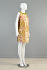 Pierre Cardin 1960s Couture Ethnic Print Tabard Dress