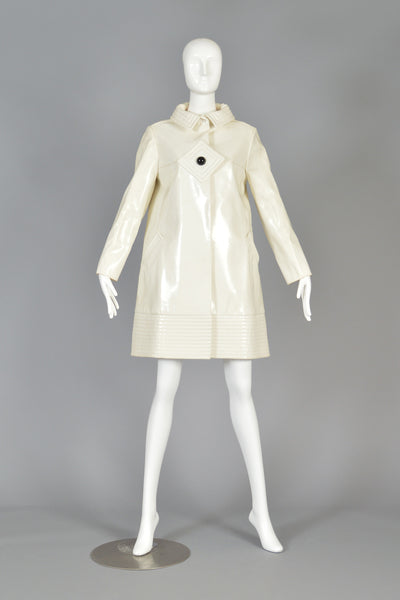 Iconic Pierre Cardin 1969 Space Age Vinyl Rain Coat