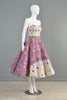 1950s 2pc Ethnic Full Circle Patio Dress