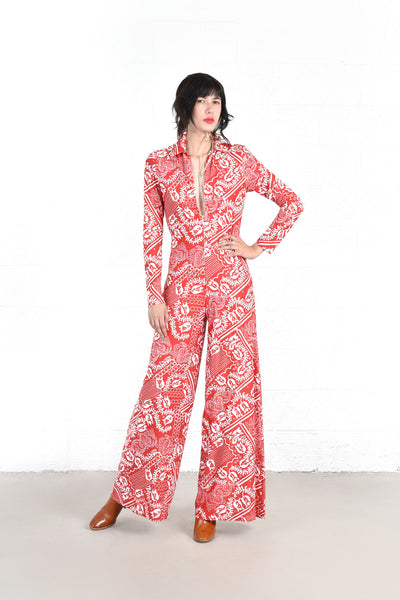 Riley Bandana Print Wide Leg Jumpsuit