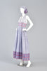 Lovely 1970s Indian Cotton Halter Dress w/Matching Scarf