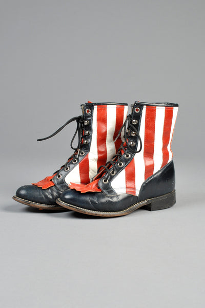 1970s Red, White + Blue Roper Boots 6.5